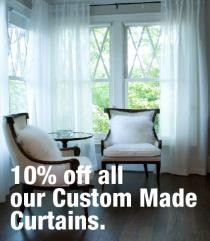 Spring Sale 10% Off All Custom Made Curtains
