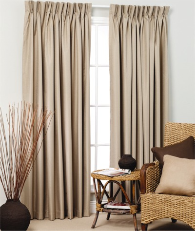 Broome Pinch Pleat Curtains - Blockout