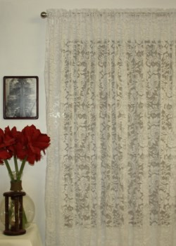 Angelina Lace Curtain Rod Pocket