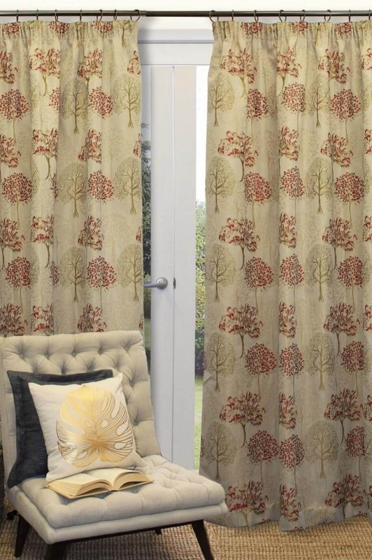 Botanica Lined Pencil Pleat Dim Out Ready Made Curtains