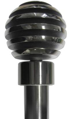 25mm Saturn Nickel Black Rod