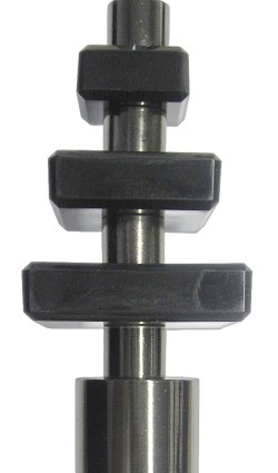 19mm Tower Nickel Black Rod