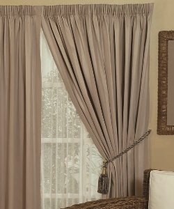 Broome Pencil Pleat Curtains - Blockout