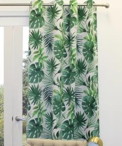 Foliage Eyelet Curtain Triple Weave