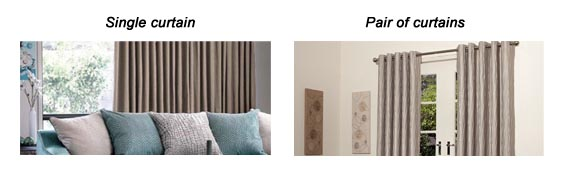 single or pair of curtains